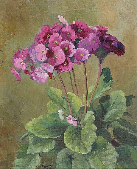 """Robert Kiener: """"Pink Primroses"""", 1932"""