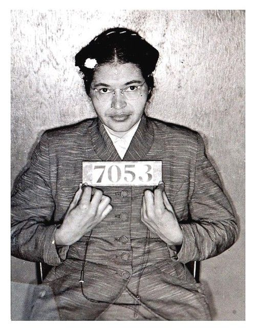 Rosa Parks' booking photo upon being arrested on December 1, 1955
