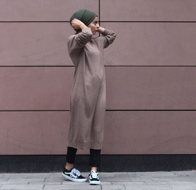Sweater dress and turban look //comfy cozy fall outfits