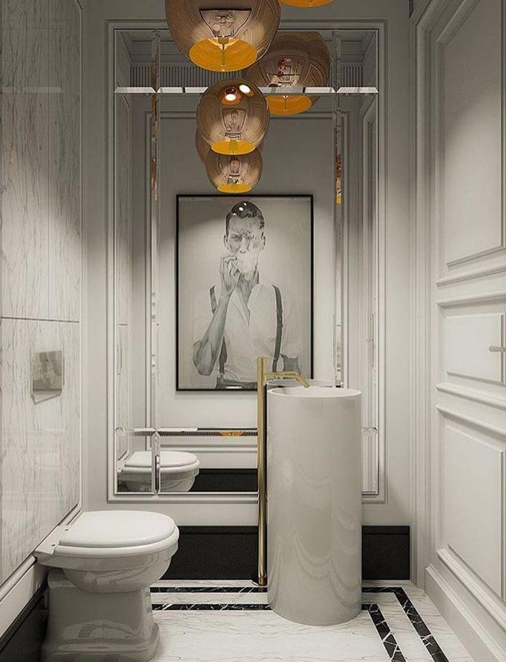 Best 25 powder room design ideas on pinterest modern - Contemporary half bathroom ideas ...