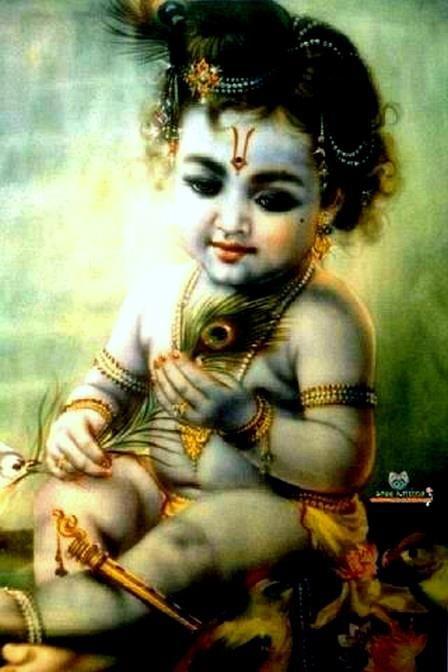 Chubby little baby Krishna