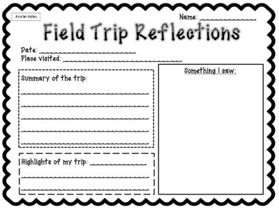 Field Trips: Important Forms To Keep You Organized from Joy in the Journey on TeachersNotebook.com -  (6 pages)  - Planning a field trip?  These forms are just what you need to keep your organized before and after the trip. These are NO HASSLE - all you need to do is print and fill them out!  Forms include: After Trip Reflections After Trip Evaluations Permission Slip