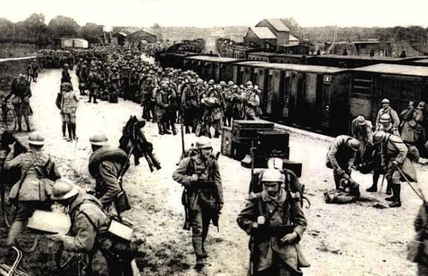 French troops detrain at Verdun. By the end of the battle of Verdun, almost every French soldier on the Western Front had cycled through it.