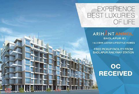 Arihant Anmol - Badlapur East 1 & 2 BHK Lavish Lifestyle Homes OC Received http://www.asl.net.in/arihant-anmol.html #ArihantAnmol #RealEstate #Property #Badlapur #Mumbai