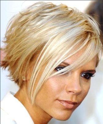 Kurze Frisuren für Square Faces und feines Haar