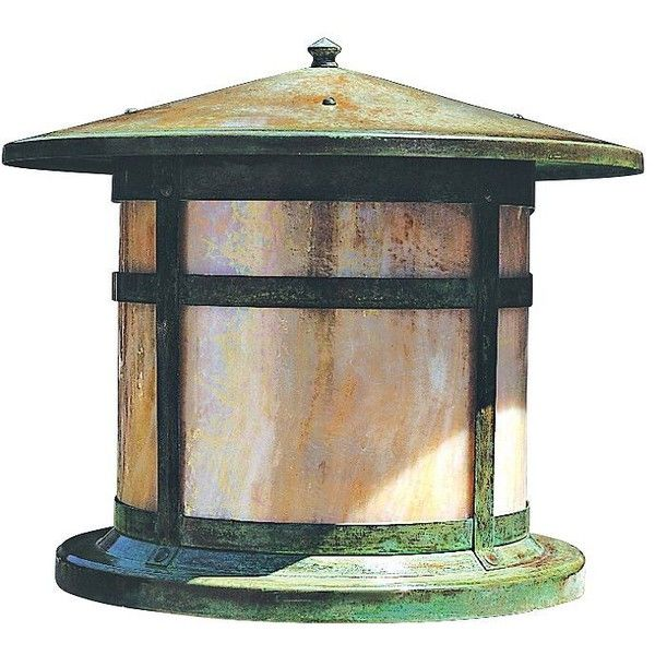 Add This Vintage Look Round Outdoor Column Light To The Top Of A Mailbox  Structure Or At A Gated Entry.