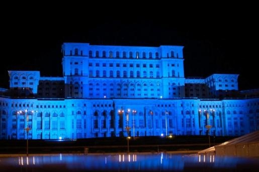 Gallery | Light It Up Blue | Autism Speaks Palace of the Parliament - Bucharest, Romania