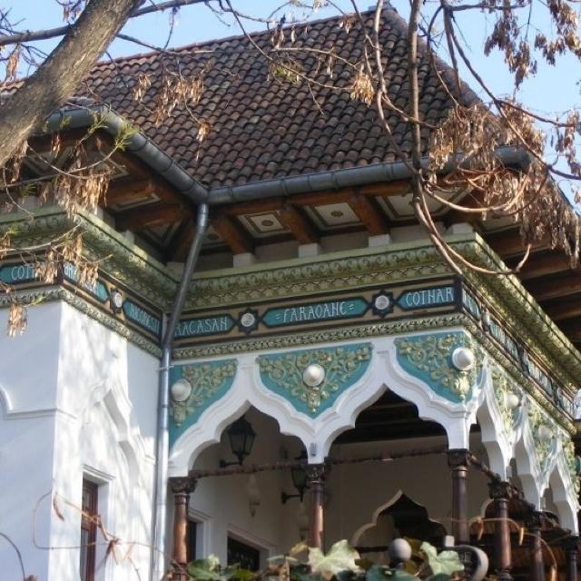 Casa Doina Restaurant, Bucharest, Romania. Built in 1892, by famous rpmanian architect Ion Mincu.
