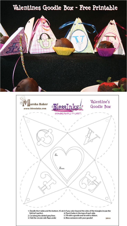Friday Doodle devo: Free Valentine's Printable Goodie Box   Doodles ...