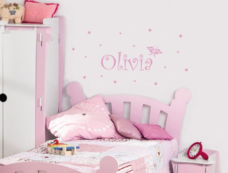 Girls Name Wall Sticker | Star Decals | Butterfly Sticker Part 65