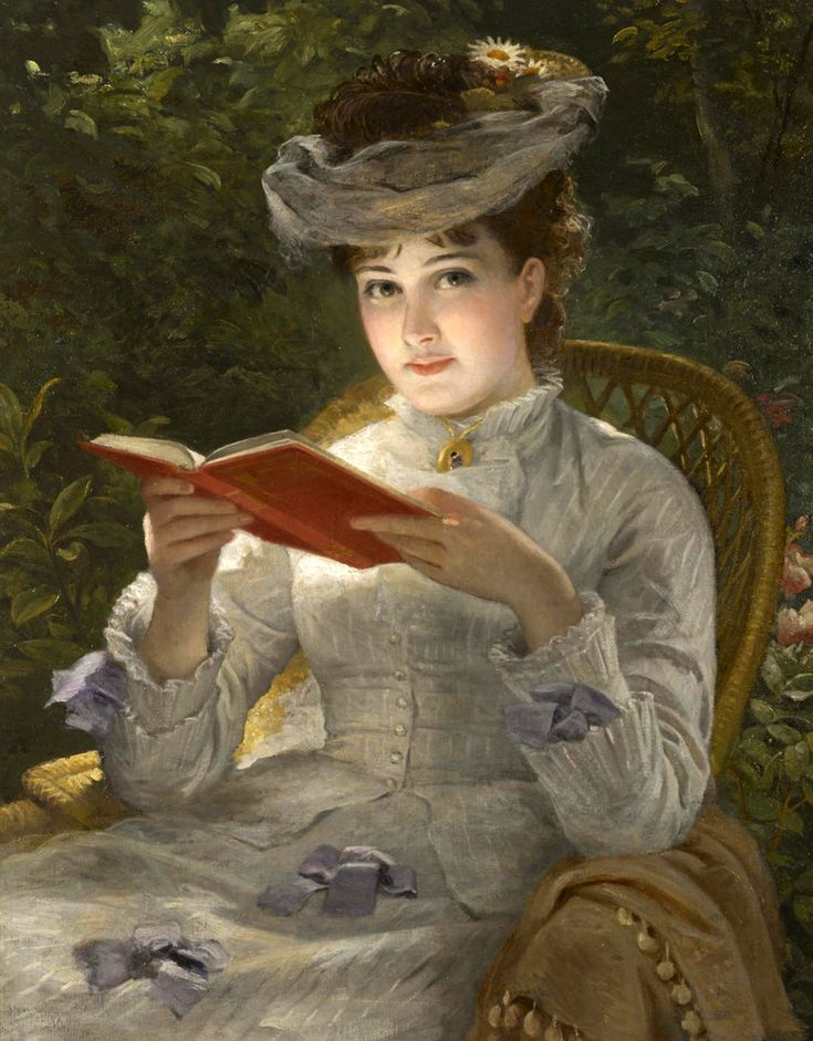 A summer beauty (19th century). English School. Artist Unknown, Oil on canvas.