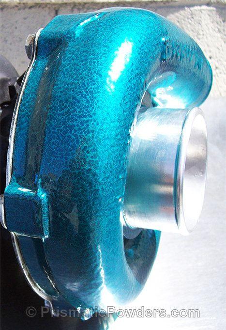 Drift Car Turbo, teal, texture, Custom, Powder Coated, Powder Coating, Prismatic Powders - Silver Artery