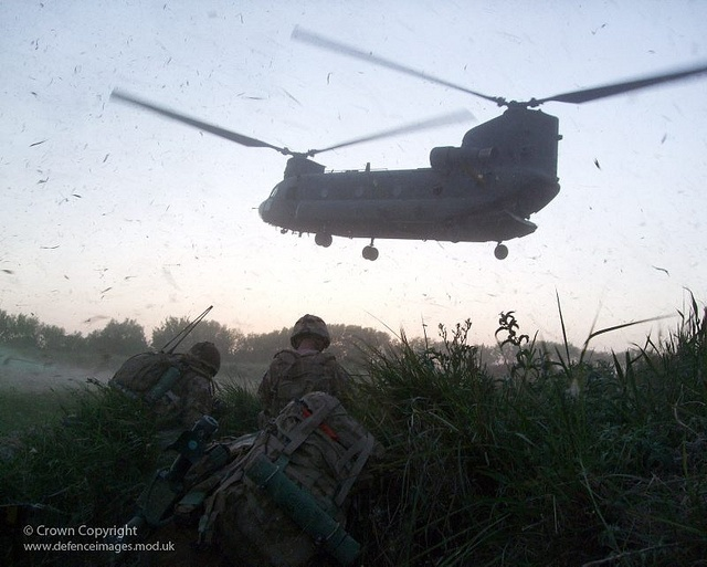 Soldiers of 1st Battalion the Coldstream Guards are pictured in a poppy field waiting for a Chinook Helicopter to extract them, following operations in Afghanistan.: Guard Awaits, Fields Wait, Poppies Fields, British Army, 1St Battalion, Coldstream Guard, Chinook Extract, Awaits Chinook, Chinook Helicopters