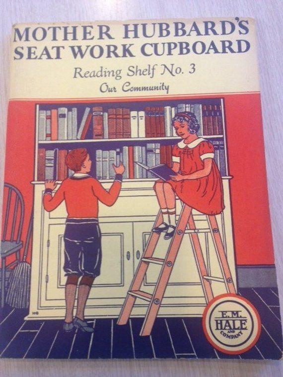 Mother Hubbard S Seat Work Cupboard Reading Shelf No 3 Our Community 1934 Workbook Unused Vintage Seat Work Hubbards Vintage