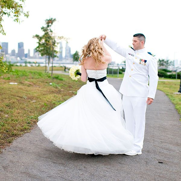 A Surprise Arch For The Bride Coast Guard Wedding By