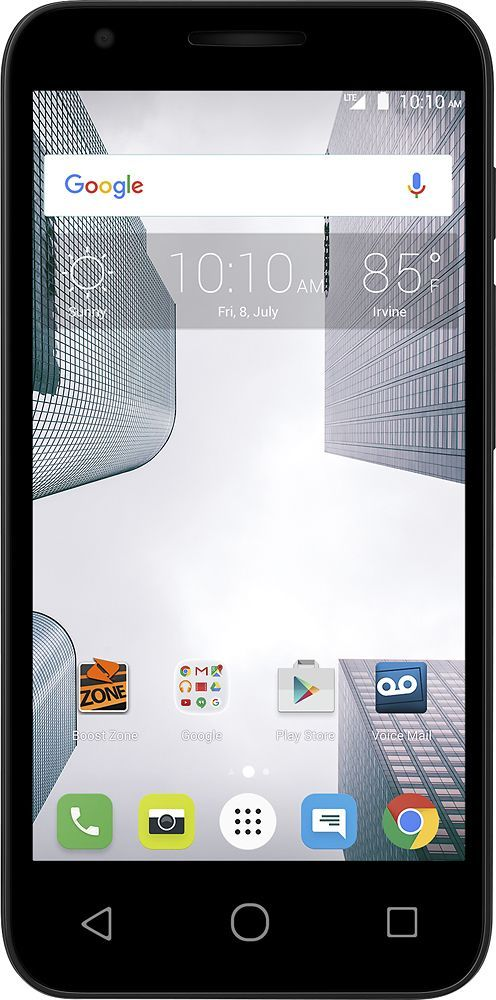 Virgin Mobile - Alcatel Dawn 4.5 with 8GB Memory Prepaid Cell Phone - Black