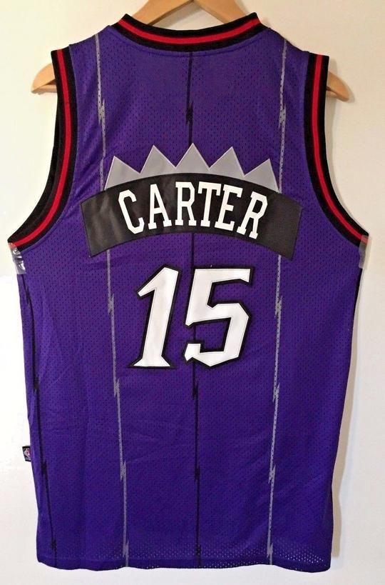 separation shoes e0c44 11a74 Men 15 Vince Carter Jersey Purple Toronto Raptors Throwback ...
