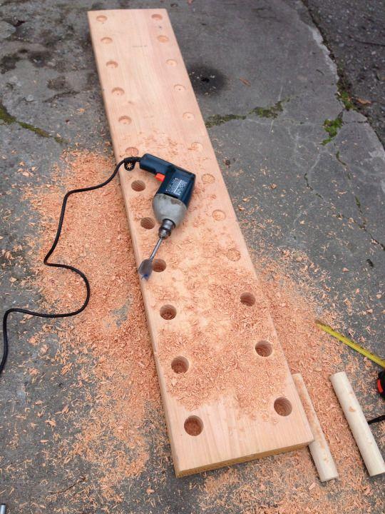 How to Build a Climbing Peg Board http://amzn.to/2rsgqaU