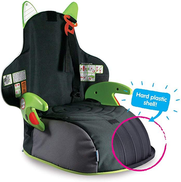gr/ün Trunki BoostApak Kinderrucksack mit integriertem Kindersitz Gruppe 2//3