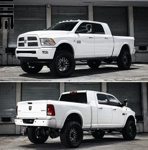 I so want this in black, it'd be perfect for hauling & it's sexy as hell, just not in white. *** Dodge Ram