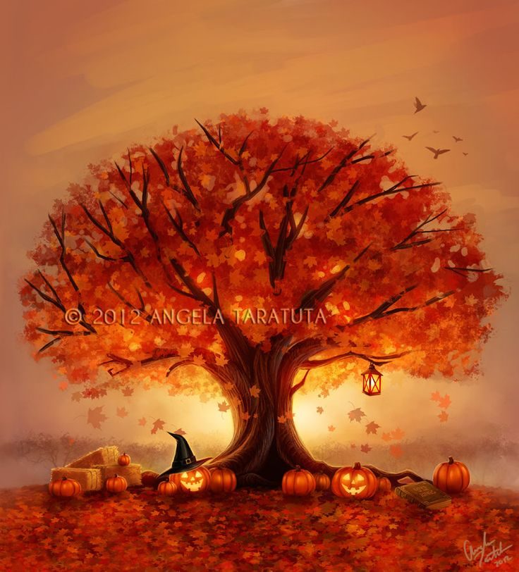 Autumn Tree Tattoo - Commission by ~Angela-T on deviantART
