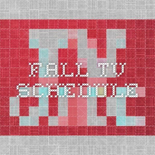 Fall TV Schedule