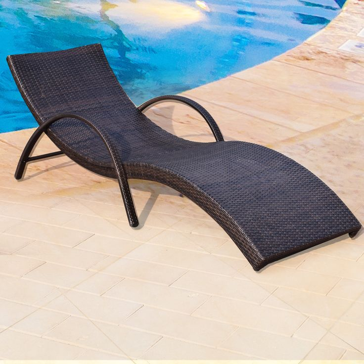 Adeco Wicker Outdoor Lounge Chair, Patio Furniture