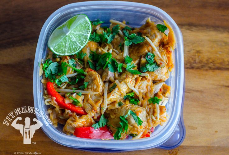 Healthy Chicken Pad Thai Meal Prep | Fit Men Cook