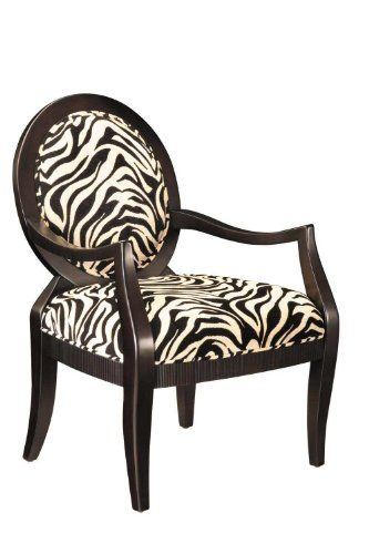 provides comfortable seating and a touch of fun seat is covered in zebra grain fabric cotton polyester midnight brown finished wood frame x x