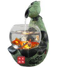 Resina aquário tanque após chinês China vento rural europeu moderno criativo enfeites de fonte de água decorativo(China (Mainland))