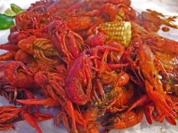 Boiling Crab Crawfish...the whole shabang!!!!  yummy!