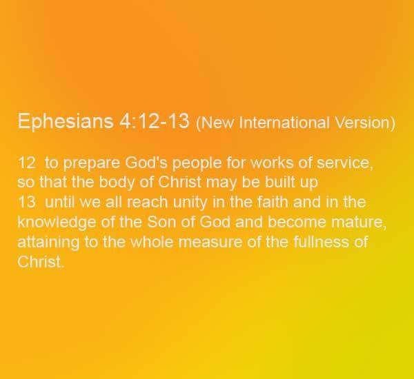 Daily Pearl: Ephesians 4:12-13 – The Reason for Fellowship