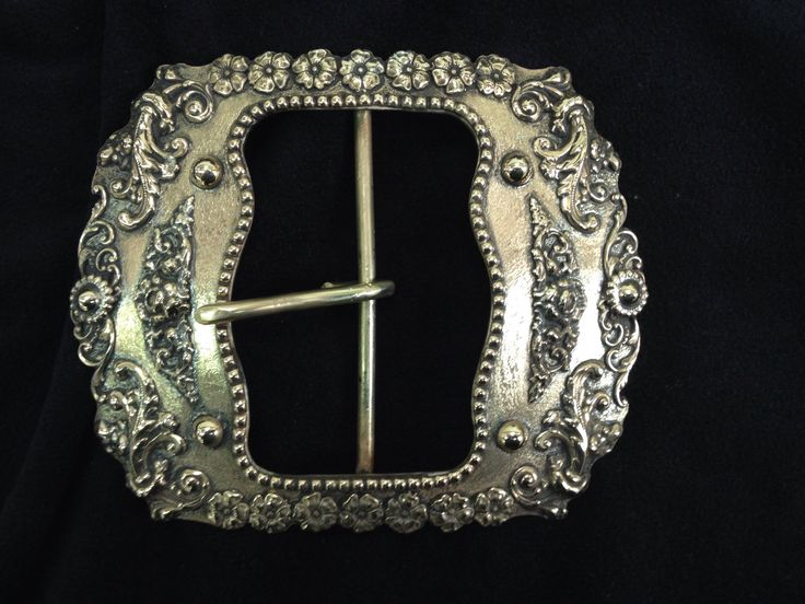 custom made buckle for santa claus brass antiqued r r buckles - Santa Claus Belt