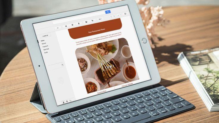 Newsletter Design for Restaurant