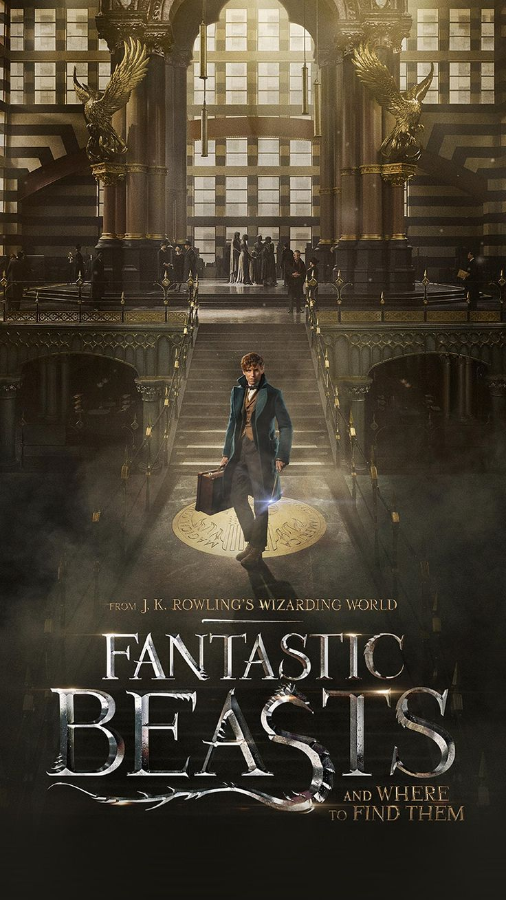 FANTASTIC BEASTS AND WHERE TO FIND THEM FILM ILLUSTRATION ART POSTER WALLPAPER HD IPHONE