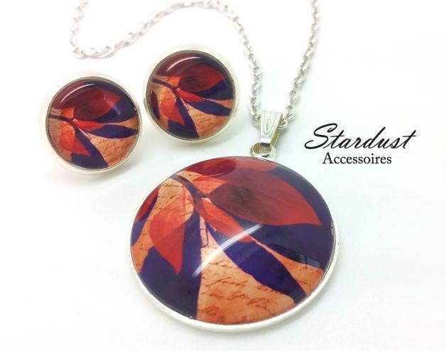 Schmuckset silber ✿ Blätterwerk II ✿ von Stardust Accessoires auf DaWanda.com