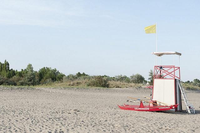 bagnino, spiaggia di Ca' Savio - Cavallino Treporti