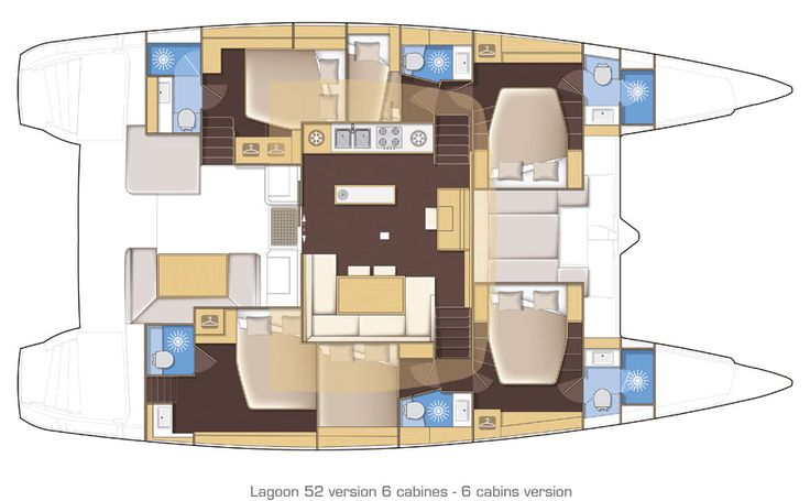 Lagoon 52  6 cabins / 6 bathroom For large families and/or charter
