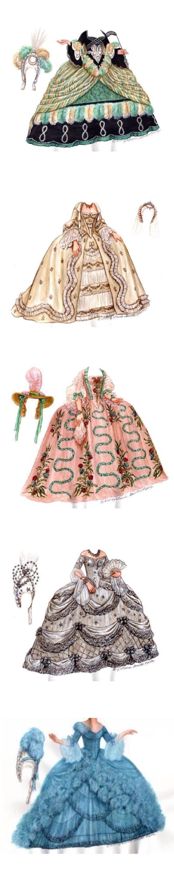 Dresses from the film Marie Antoinette 1938