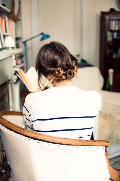 Three twisted buns (flashback): Hair Ideas, Hairstyles, Hair Tutorials, Beautiful, Twists Buns, Cute Hair, Hair Style, Stripes, Knot