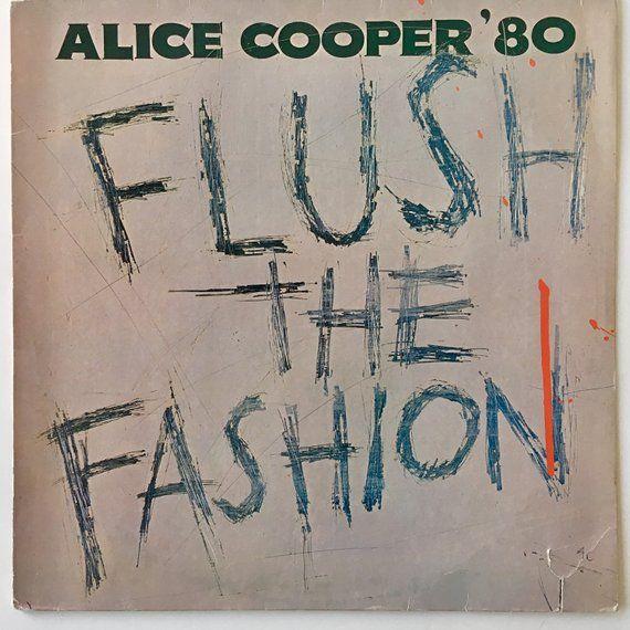 Alice Cooper Flush The Fashion Lp Vinyl Record Album Warner