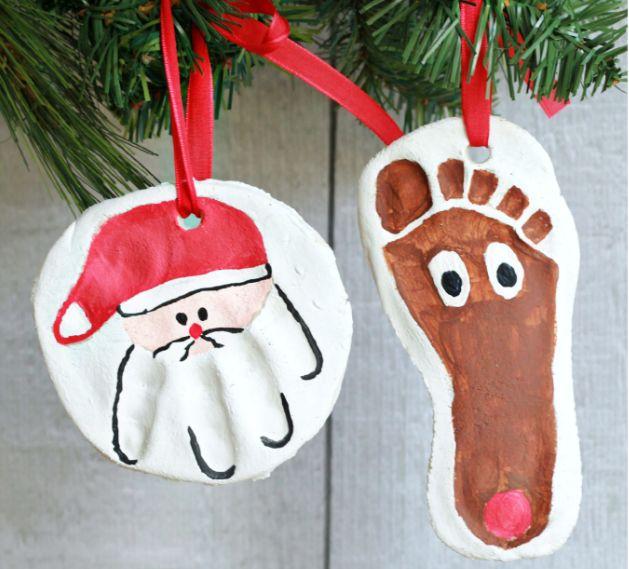 簡単可愛い!赤ちゃんや子供の手形足形アートで作るクリスマスの飾り11 ...