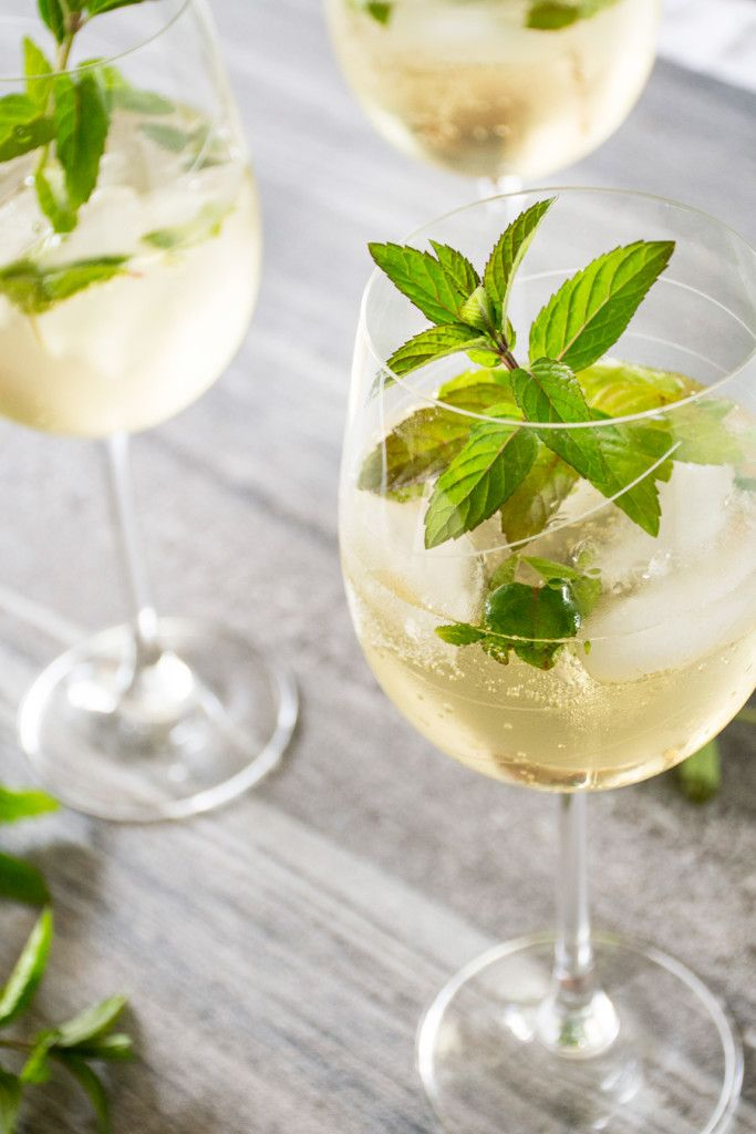 prosecco elderflower drink cocktails party drinks food drinks mint ...