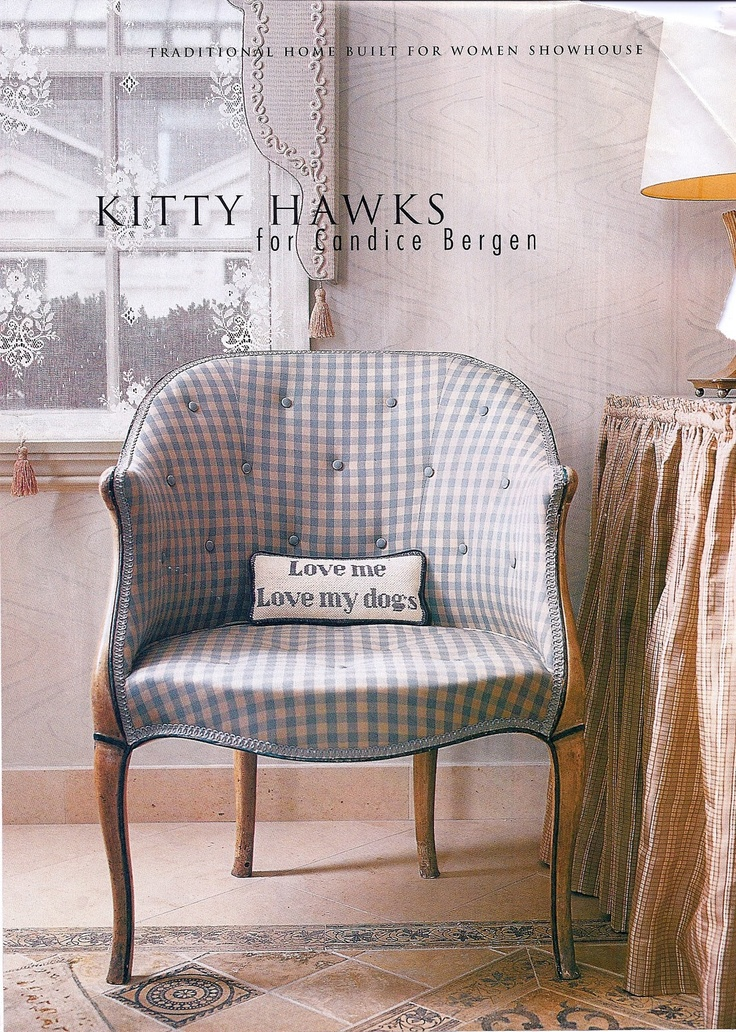 .Benches Chairs Sofas, Sitting Pretty, Chairs Armchairs, White Plaid, Blue Gingham, Design Redux, Blue Living, Blue And White, Curtains Call