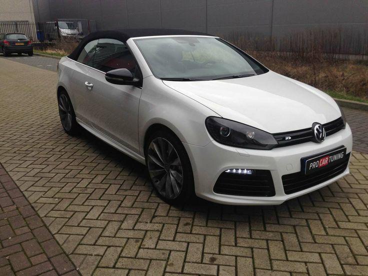 VW Golf 6 Cabrio R R20 ombouw met Milltek uitlaatsysteem. http://www.procartuning.nl