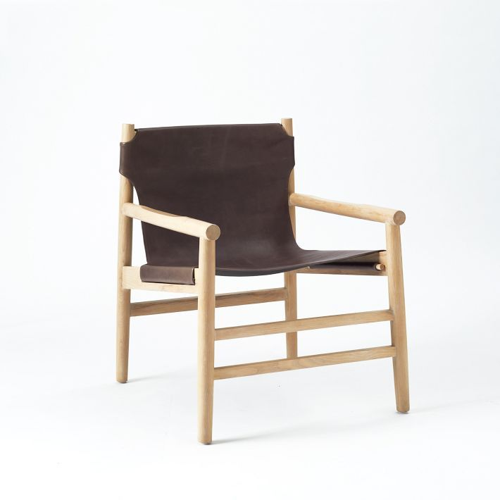 Leather Fur Sling Chair West Elm Seating Pinterest