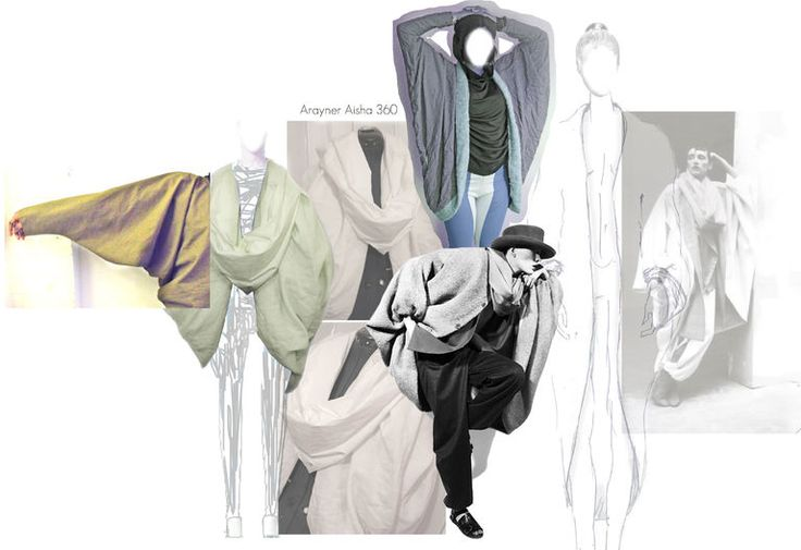 Fashion Portfolio - fashion design exploring the concept of concealed identity - design development & experimentation; fashion sketchbook // Arayner Aisha