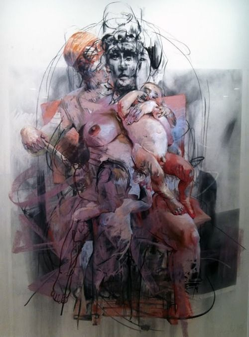 Jenny Saville  Study for Isis and Horus, 2011
