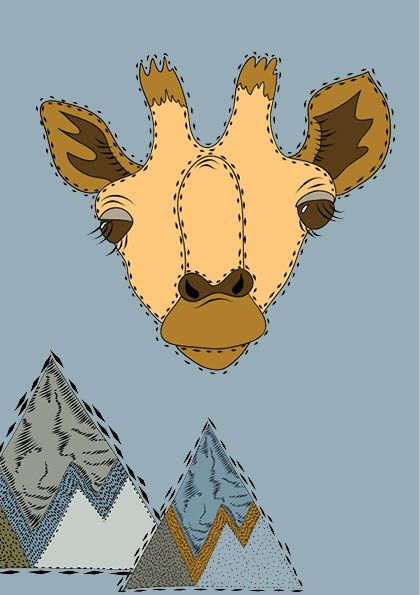 Giraffe - Willemijn//Art&Design