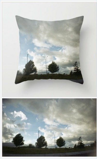 Clouds Pillow Cover - Photo pillow Cover Only - Landscape Photo - Sofa Pillow - Throw Pillow - Made to Order